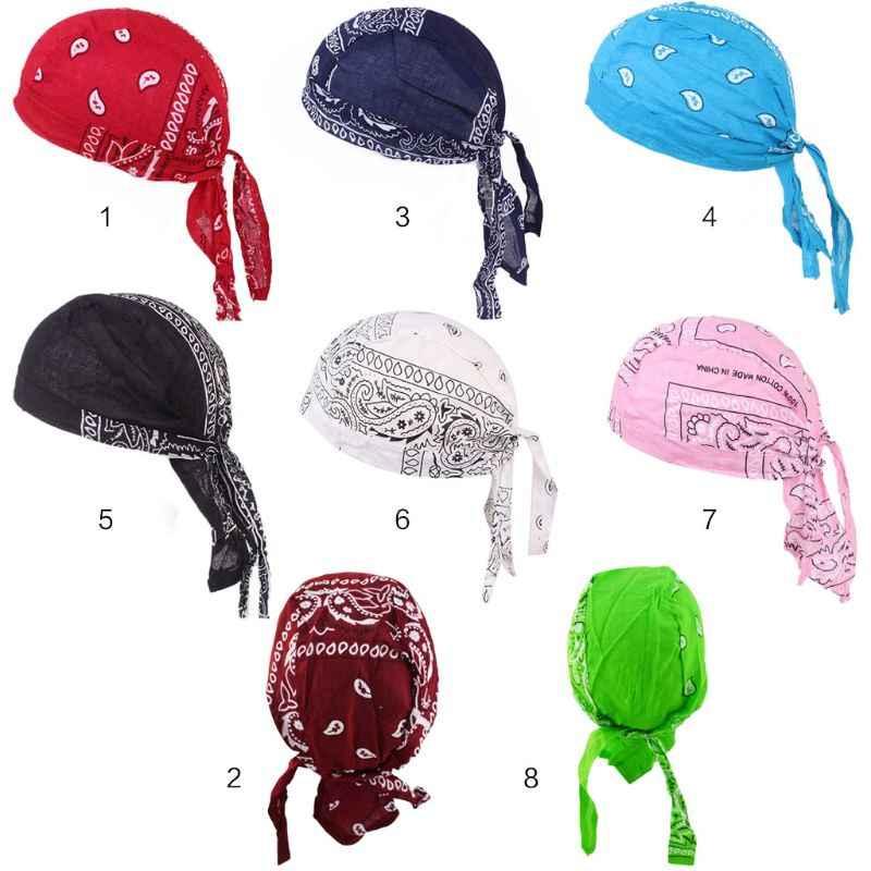 Amip desen baskılı eşarp kap moda erkek kadın sokak dans korsan şapkalar bisiklet binme açık başörtüsü şapka