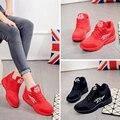Shoes Women 2016 New Spring PU Women Casual Shoes Lace-Up Women Fashion Shoes Platform Flats High top Women Shoes