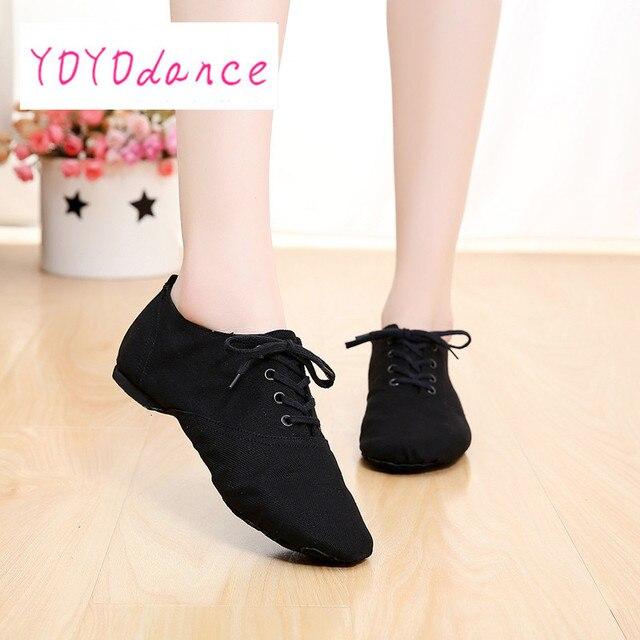 profesional de lona suave interior bailar jazz zapatos de mujer