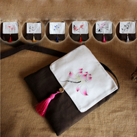 Hand Painted Chinese Style Vintage Literature And Art Mini Bag Ancient Customs Han Chinese Clothing Fresh