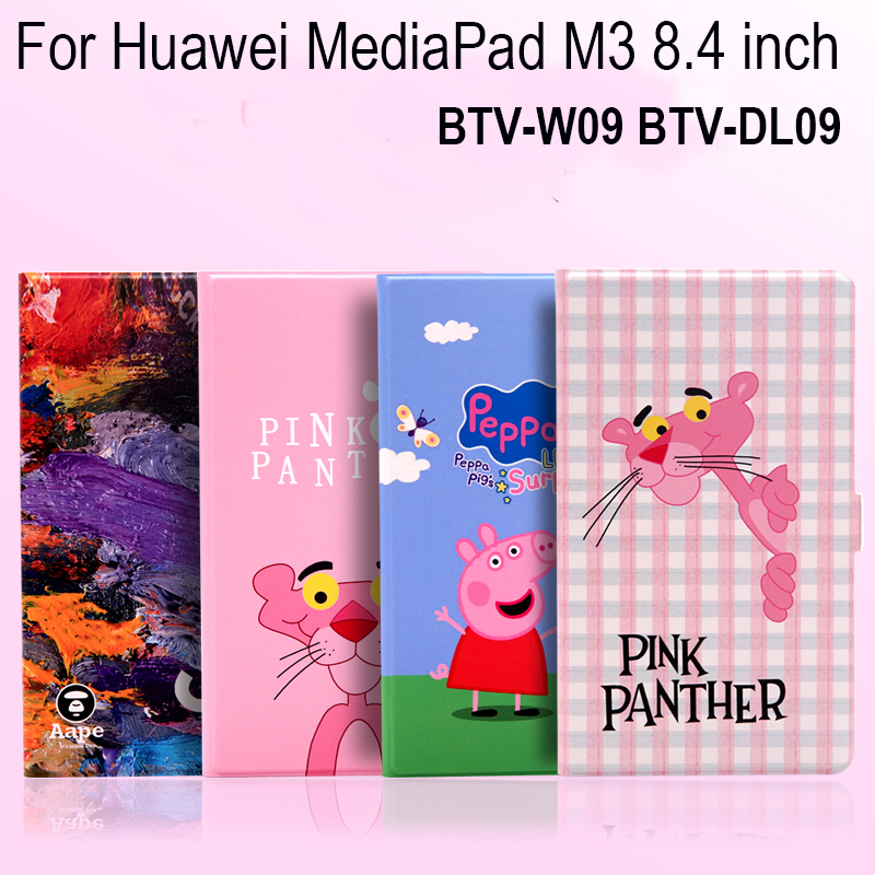PU Leather+TPU soft Case Stand Cover For Huawei MediaPad M3 8.4 inch BTV-W09 BTV-DL09 Tablets Protective Sleeve Wake/Sleep+Gifts hat prince protective tpu case cover w stand for iphone 6 blue