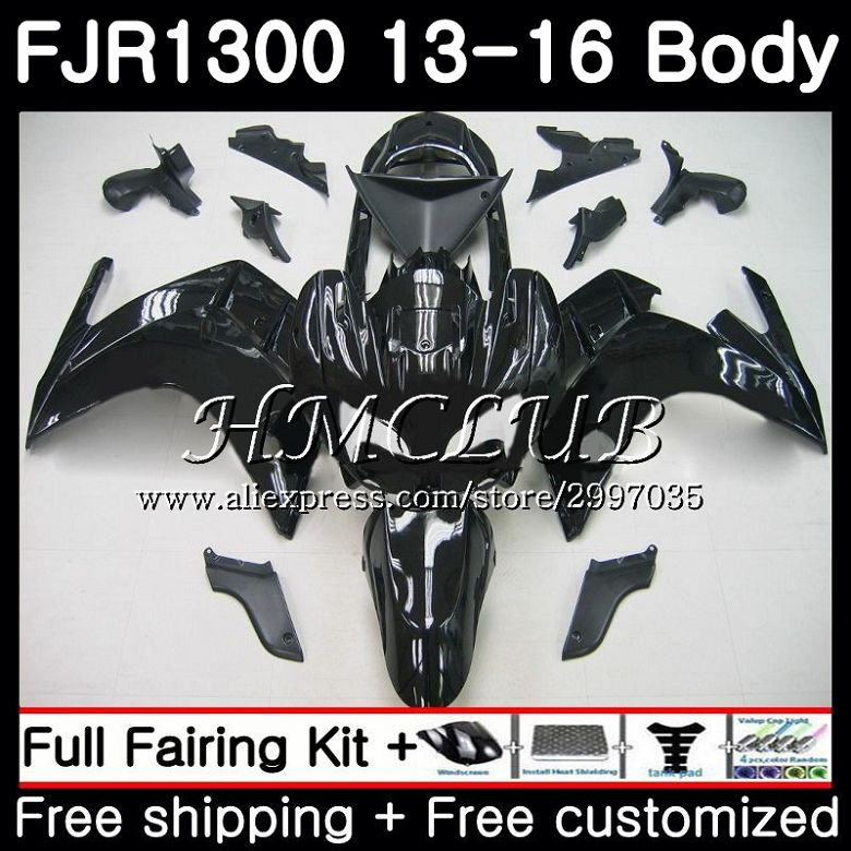 Kit para YAMAHA FJR1300A FJR-1300 brillo negro FJR 1300, 2013, 2014, 2015, 2016 12HC 8 FJR1300 un FJR-1300A FJR1300 13 14 15 16 carenado