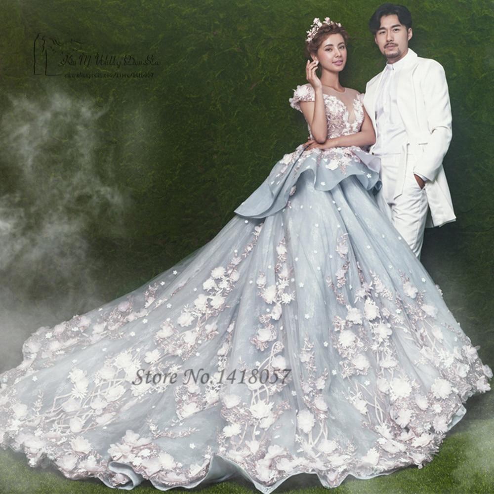 US $15.15 15% OFFVestido de Noiva Princesa Luxo Ballkleid Brautkleid 15  Arabischen Hochzeitskleider Blumen Bunte Spitze Braut Kleider Gericht