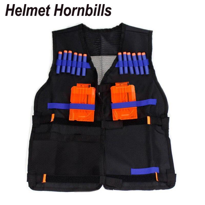 Helmet Hornbills Tactical Vest Jacket Waistcoat Magazine Ammo Holder For Nerf N-Strike Elite Pistol Bullets Toy Guns Clip Darts
