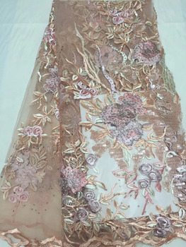 African Tulle Lace Fabric 2018 African French Lace Fabric High Quality With Stones Nigerian Embroidery Tulle French Lace Sequins