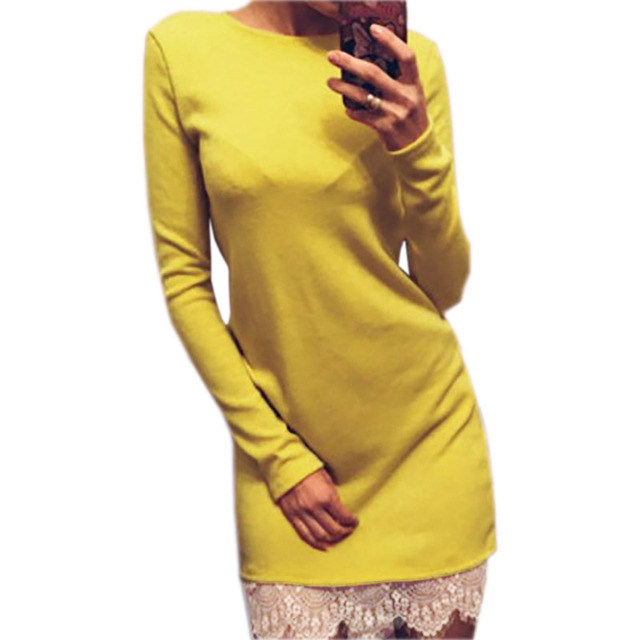 2017 Women Casual Dress Fit Ladies Elegant lace solid bodycon dress Christmas evening party long sleeve winter dress LX067 1