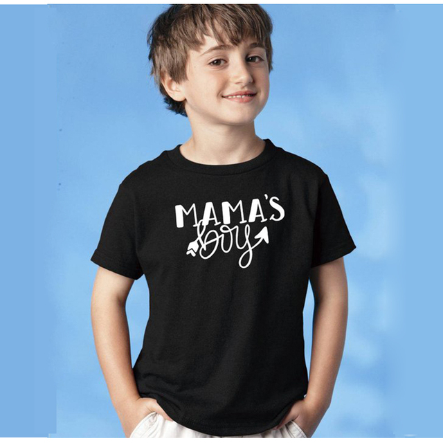 937aad2c EnjoytheSpirit Kid Tshirt Mama's Boy Shirt Little Boy Mom and Son Shirts  Soft Cotton Summer Fashion Top Tee Casual