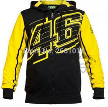 Free Shipping New style More Valentino Rossi VR46 Hoodies MotoGP Factory Team Motorcycle Jackets Sweaters cotton coat Random