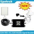 Двойной ЖК-Дисплеев! Двухдиапазонный GSM и UMTS 900 МГц WCDMA 3 Г 2100 МГц Мобильный Сотовый Телефон Усилитель Сигнала 2 Г 3 Г сигнал Повторителя Усилитель
