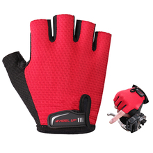 Half-finger Cycling gloves Half Finger Sumer MTB Mountain Bicycle Breathable Gloves Bike Sponge Pad Professional Men