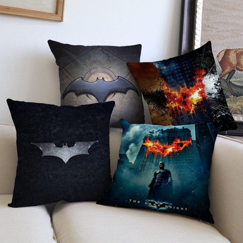 super hero batman black knight Decoration Throw Cushion Cover Pillow Case cushion for car Sofa Chair home decor almofada cojines
