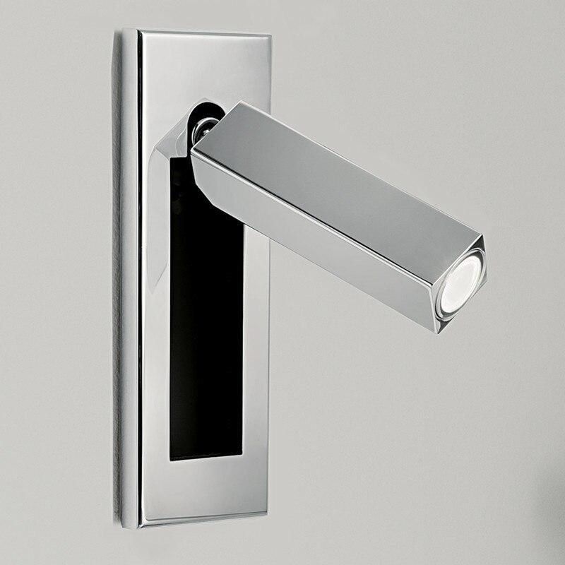 Topoch Nordic Light Wall with Push Switch na Blackplate Multi Finishes Auto On / Off při otevření / zavření 100-240V 12V 24V 3W LED