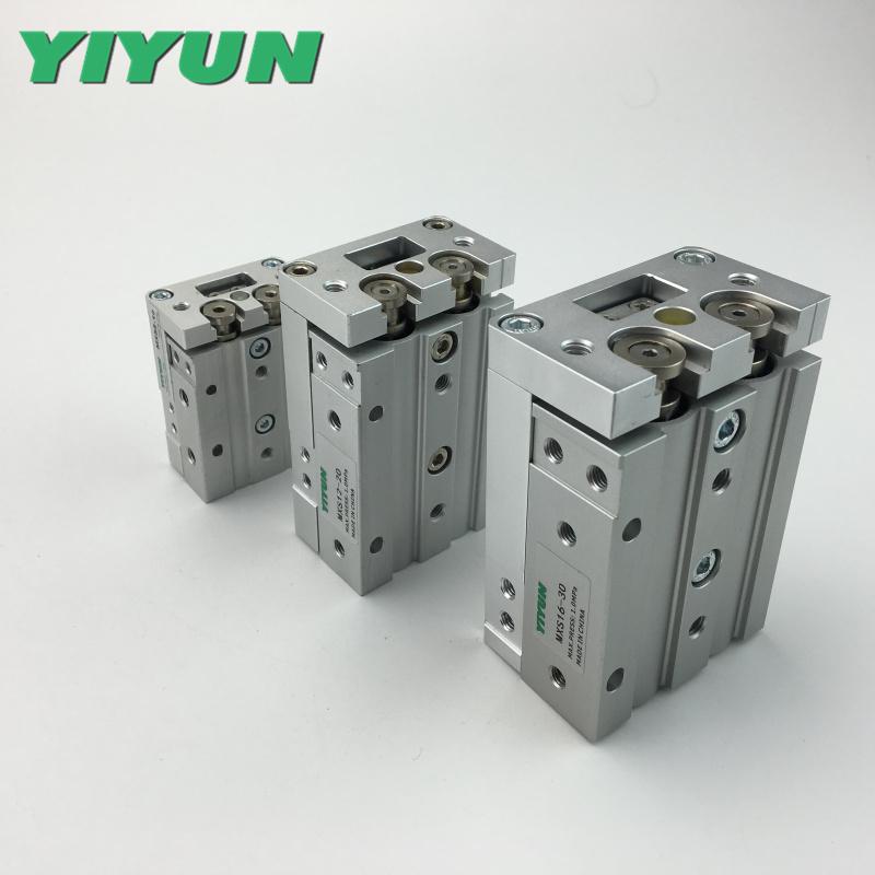 Yiyun Pneumatic sliding table cylinder MXS16-10BT MXS16-20BT MXS16-30BT MXS16-40BT MXS16-50BT MXS16-75BT MXS16-100BT MXS16-125BT