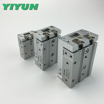 Yiyun pneumatic precision slide table cylinder with guide rail MXS8-10A MXS8-20A MXS8-30A MXS8-40A MXS8-50A MXS8-75A