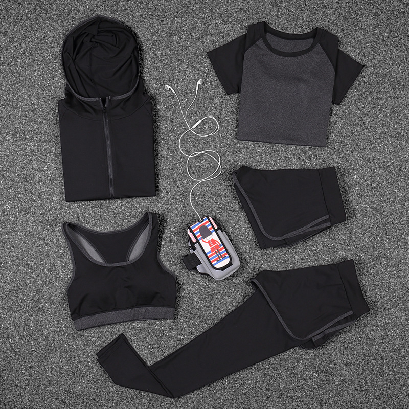 Nouveau femmes Yoga Sport costume soutien-gorge ensemble femme à manches courtes vêtements de Sport d'été en cours d'exécution à séchage rapide Fitness formation vêtements