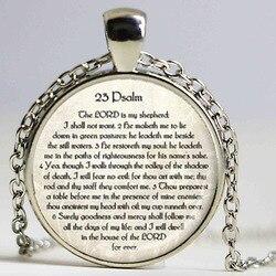 23rd psaume bijoux ecriture collier psaume 23 collier Bible verset bijoux ecriture bijoux juif cadeau chrétien