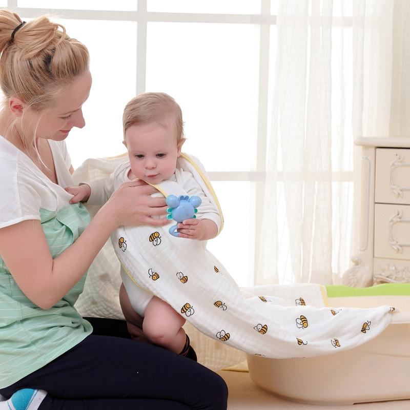 Soft Muslin Newborn Baby Swaddling Blanket Infant Cotton Swaddle Towel