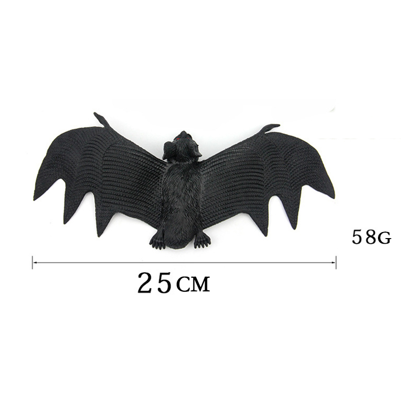 23CM TPR Spooky Animals Halloween Fake Bats Toys Childrens Gifts Party Decorations