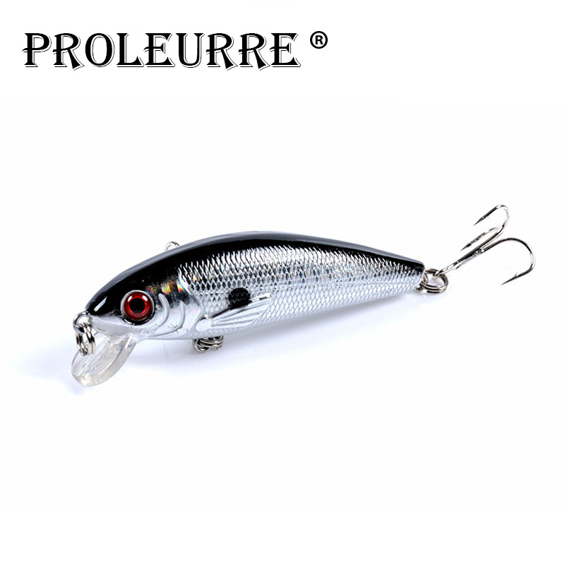 Proleurre 1pcs Fishing Lure 7cm 8.5g Floating Minnow Crankbait Hard Bait Tight Wobble Slow Sinking Jerkbait Fishing Tackle