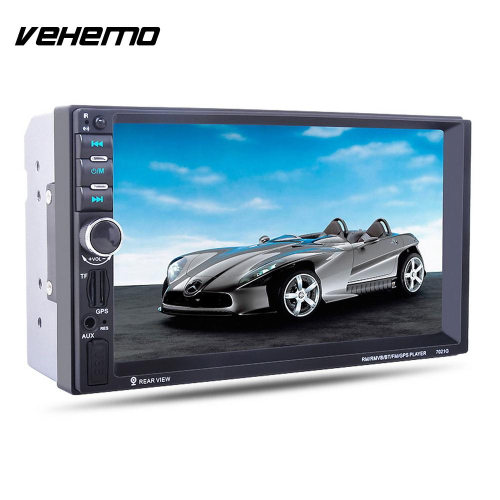 """Vehemo Bluetooth Multimedia Player Car MP5 Player Audio Video Player 7"""" DC12V Support SD Card"""