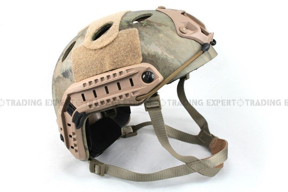 Emerson мотоциклетный шлем страйкбол быстрый стиль PJ шлем(A-TACS FG TAN MARPAT Пустыня на серый черный - Цвет: AT