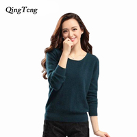 High Quality Autumn Winter Knitted 100 Mink Cashmere Sweater Women 2014 NEW European Women Fashion Outwear