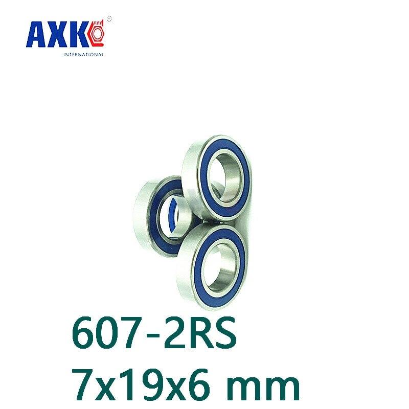 Axk Free Shipping 607-2rs 607 Hybrid Ceramic 607 Rs Deep Groove Ball Bearing 7x19x6mm axk free shipping 1pcs 6901 2rs hybrid ceramic si3n4 ball 61901 ceramic bearing 12 24 6mm 6901 2rs