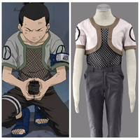 Ainclu Free Shipping Anime Product NARUTO Anime Cosplay Nara Shikamaru Costume Halloween Customize For Plus Size