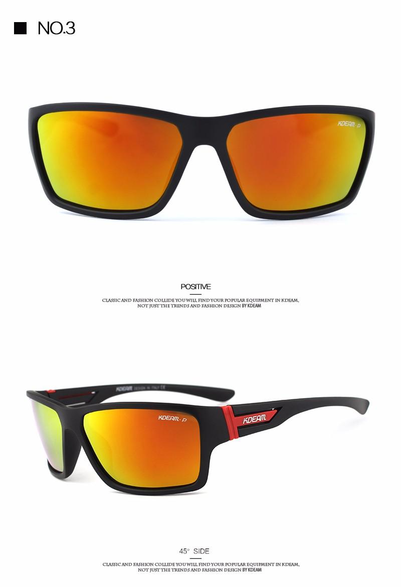 c118421a973 KDEAM 2019 Summer Polarized Sunglasses men HD Polaroid lens Sport Sun Glasses  Goggles With Brand Hard Box lentes de sol KD510. M7 all colors NO1 NO2 NO3  ...