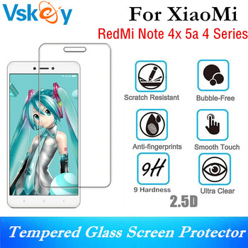VSKEY 10PCS 2.5D Tempered Glass For Xiaomi Note 4X Screen Protector Redmi 5A Anti-Scratch Protective Film