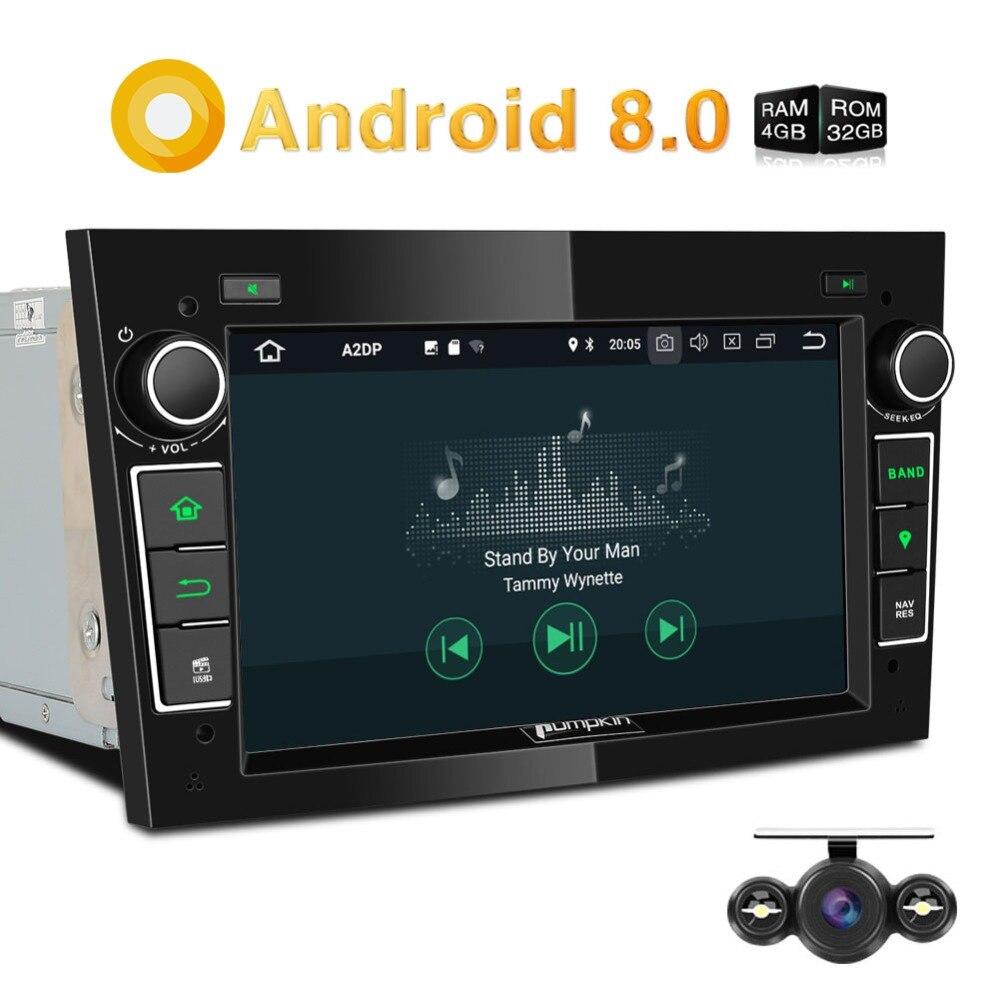 Citrouille 2 Din Android 8.0 Voiture Radio Aucun Lecteur DVD GPS Navigation 4 gb RAM Voiture Stéréo Pour Opel/ corsa Bluetooth Qcta-core Headunit