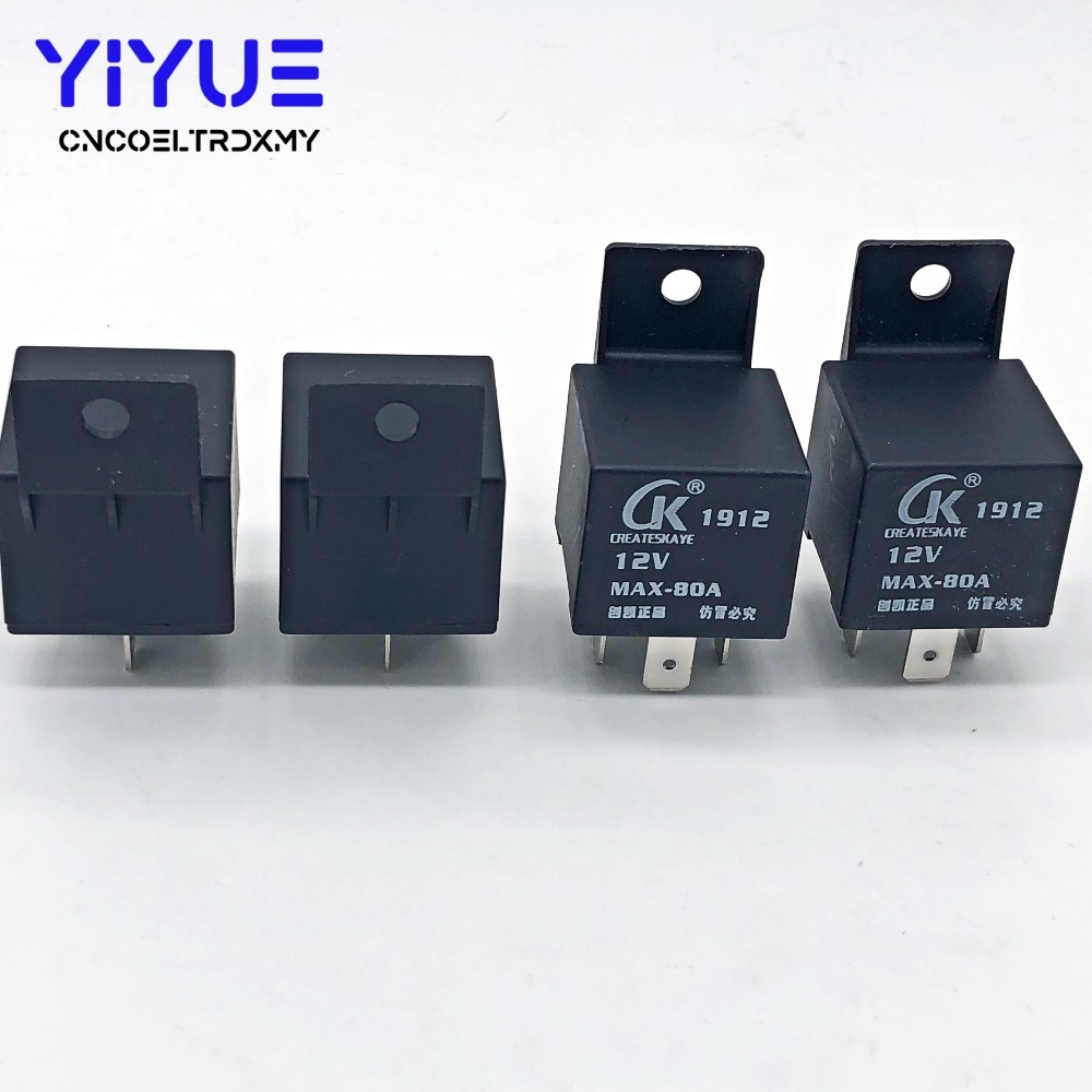 4 Pin MAX-80A Waterproof Car Relay Long Life Automotive Relays CK Normally Open DC 12V Relay For Head Light
