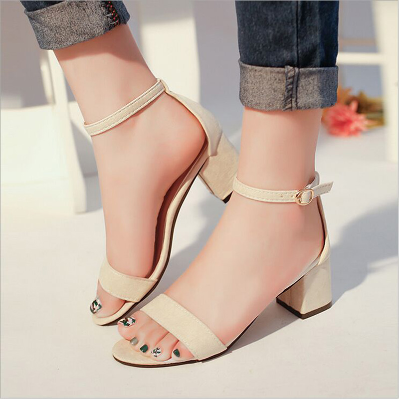 Women Shoes Summer Fashion High Heels Women Sandals Toe Sexy Sandal Buckle Female Shoes Lady Style Tide Shoes zapatos mujer high quality fashion women sandals flat shoes summer pee toe sandals indoor&outdoor leisure shoes dropshipping ma31