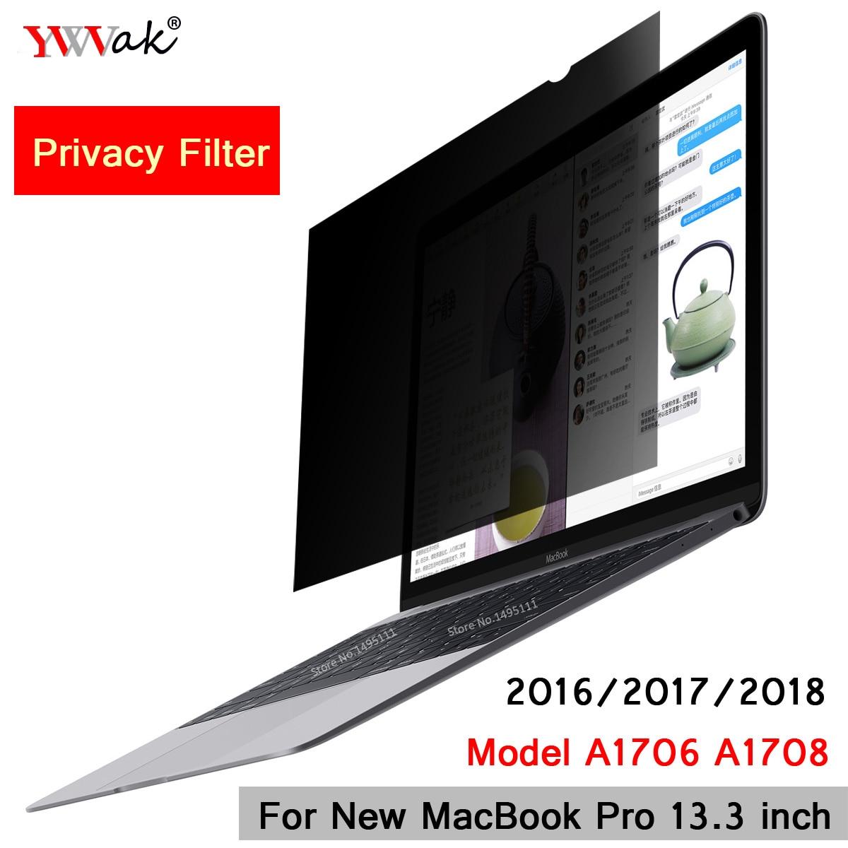 Für 2016/2017/2018 Neue Macbook Pro 13,3 Zoll Touch Bar Modell A1706 A1708 Privatsphäre Filter Bildschirme Schutz Film 299mm * 195mm