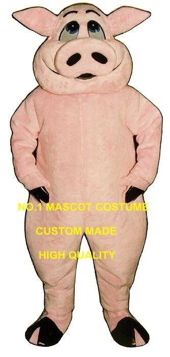 Happy Hog Pig Mascot Costume Adult Anime Cosplay Dress Pig Theme Cartoon Character Mascotte Fancy Dress for School Carnival 1989