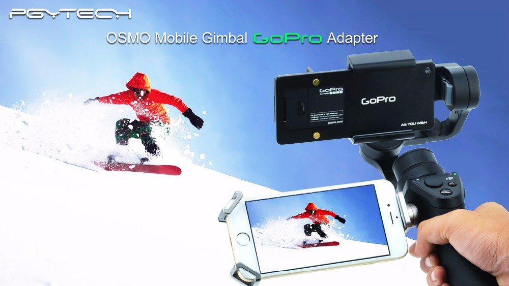 PGY gopro Adapter switch mount plate for DJI osmo mobile gimbal Zhiyun Z1-Smooth 3 axis handheld phone drone parts accessories