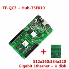 LYSONLED LongGreat TF-QC3+Hub75E-010 ASynchronization RGB LED Control Card with 10x HUB75 Outputs Support 512×160 Pixels