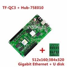 LYSONLED LongGreat TF-QC3+Hub75E-010 ASynchronization RGB LED Control Card with 10x HUB75 Outputs Support 512×160 Pixels