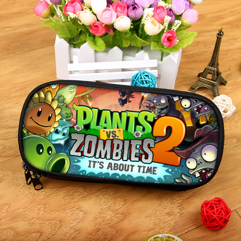 Purse Wallet Game-Plants Zombies Vs School Children Pen-Bag Pencil-Case Student Cartoon