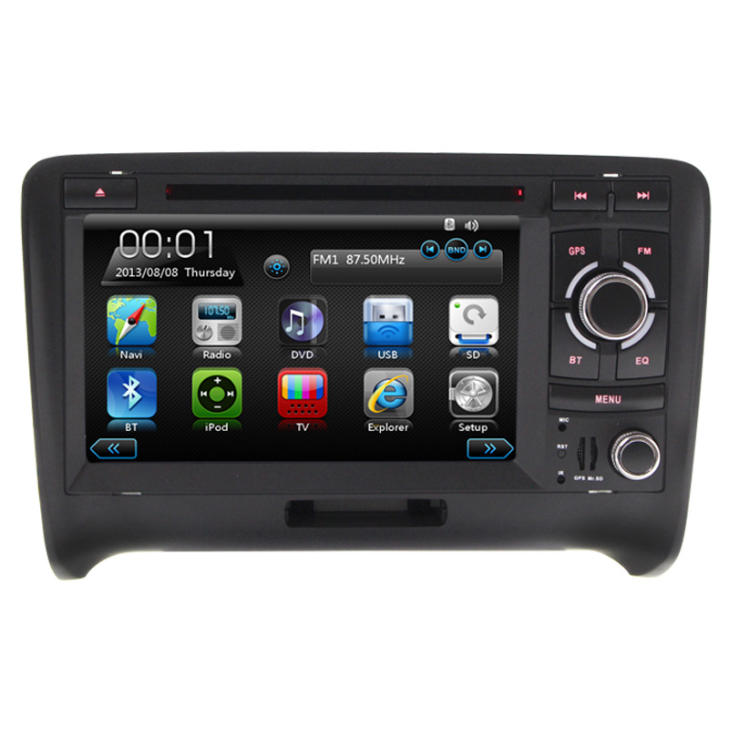 Wince6 0 Free map RDS Bluetooth For AUD ITT With GPS Navigation Can Bus 7Inch Digital