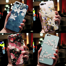 3D Flower Emboss Case For iPhone X Cute Cartoon Phone Cover 7 8 6s 6 Plus TPU Soft Silicon