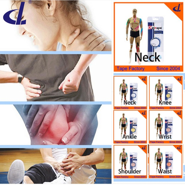 Kintape Cure Group ( 2 bags/ lot)Kinesiology Tape Pre-Cut Applications for Knee Ankle Waist Shoulder Back Pain Cure Health Care