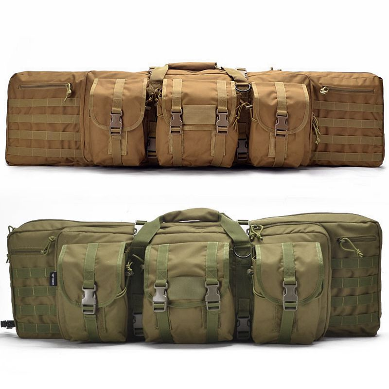 Tactical Heavy Rifle Pistol Gun Bag Gun Carry Outdoor Hunting Shooting Backpack Protection Case Airsoft Nylon Bag With Pouch