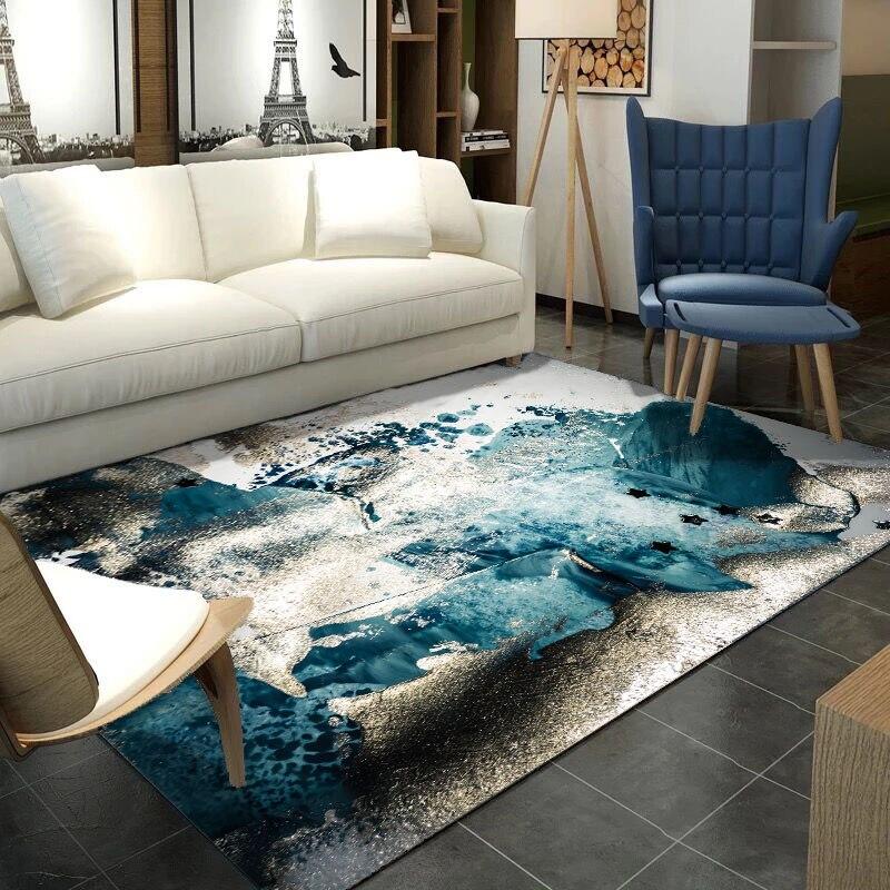 Nordique tapis de salon simple et moderne En Métal marbre style Hôtel ascenseur table à thé chambre couverture de chevet lavable en Machine