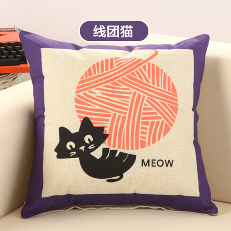 Us 14 24 5 Off 18x18inch 45 45cm Kitty Cat Printed Creative Customized Diy Cushions Home Decors Sofa Seat Back Throw Pillows Car Office Cusions In
