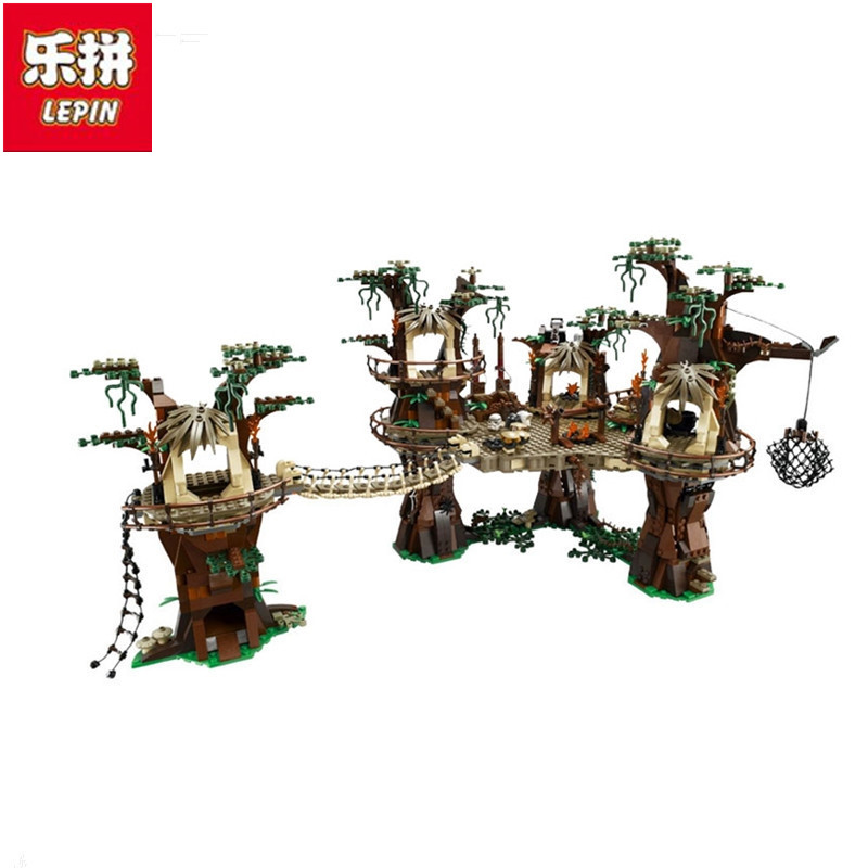 Lepin 2017 New 05047 1990Pcs StarWars Ewok Village Model Building Kits figure Blocks Bricks Compatible Children Toy a toy a dream lepin 15008 2462pcs city street creator green grocer model building kits blocks bricks compatible 10185
