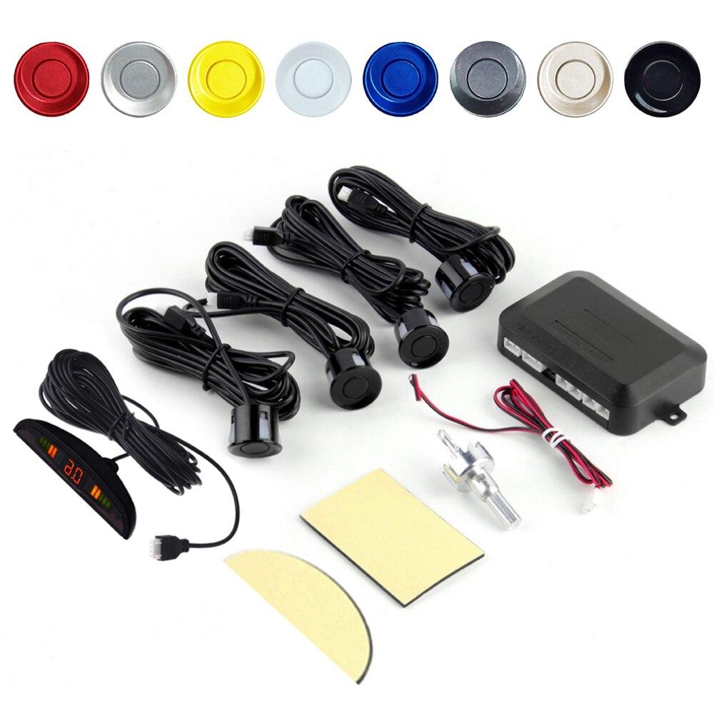 EzoneTronics czujnik parkowania led samochodowy zestaw wyświetlacz 4 czujniki 22mm 12V dla wszystkie samochody rewers system monitorowania radaru dodatkowego