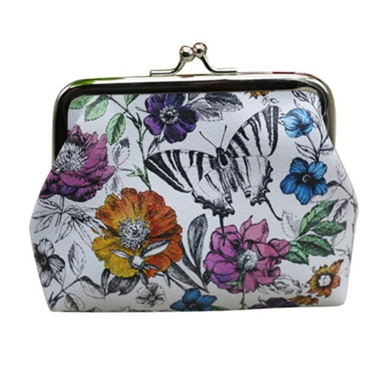 Women Wallet Credit Card Holder Hasp Coin Purse Fashion Butterfly Pattern PU Leather Clutch Women Ladies Girl Coin Purses  2087 women new fashion long hasp wallet cute purse for juniors flower pattern design magnetic snap closure credit store