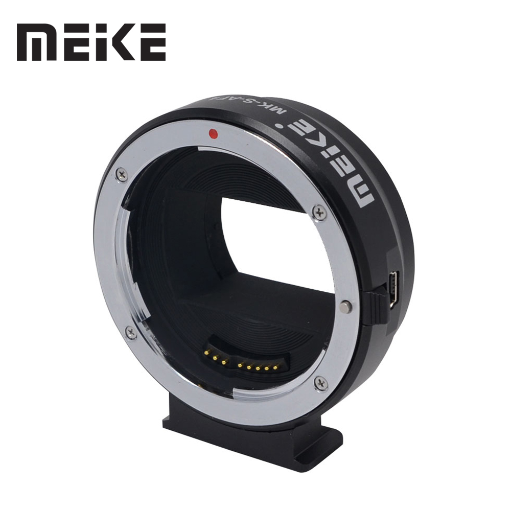 Meike Mount Adapter S-AF4 for Sony E-Mount to Canon EF/EF-S for Sony NEX-5/NEX-3/NEX-5N/NEX-5R/NEX-7/NEX-6/A7/A7R/NEX-VG10 camera auto focus lens adapter ii for canon eos ef ef s to sony full frame nex a7 a7r