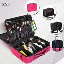 ZYJ Профессиональный органайзер для косметики коробка сумки комод путешествия макияж художника инструмент для ногтей сумка для косметики сумочка